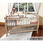 Baby Scarlett Sleigh Country Pine Cot Bed-Pocket Sprung Mattress-Top Changer