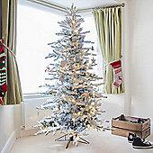 Kaemingk 7ft Snowy Alaskan Fir Artificial Christmas Tree
