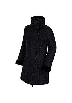 Regatta Penthea Faux Fur Collar Puffa Jacket - Black