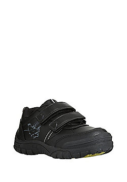 F&F Light-Up Dinosaur School Trainers - Black