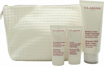 Clarins My Winter Essentials Gift Set 200ml Body Lotion + 30ml Body Scrub + 30ml Hand Cream + Travel Case