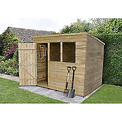 Forest Garden 8x6 Overlap Pressure Treated Pent Shed