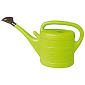 10L Lime Green Plastic Garden Watering Can with Rose