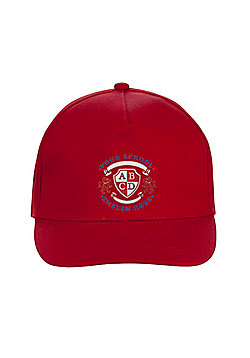 Unisex Embroidered School Cap - Red