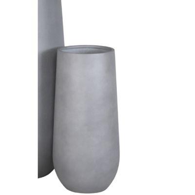 Brackenstyle Light Fibrestone 70cm Cylinder Pot - Slate Grey