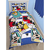 Mickey Mouse Polaroid Single Duvet Cover and Pillowcase Set