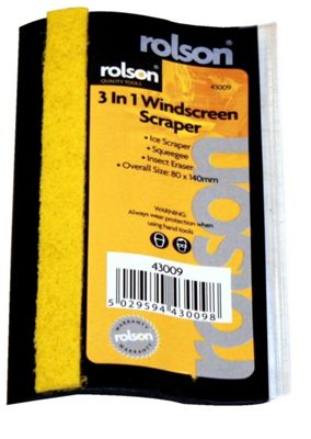 Rolson 3 in 1 Windscreen Scraper