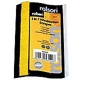 Rolson 3 in 1 Windscreen Scraper