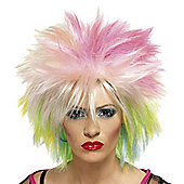 Smiffy's - 80's Cute Wig - Blonde & Neon