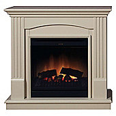 Chadwick CDW12WWN Fire Suite Optiflame, Stone effect surroud, dark grey fire