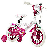 "Terrain Twinkle Stars 12"" Wheel Pink & White Kids Bike"