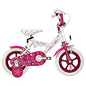 Terrain Twinkle Stars 12 inch Wheel Pink & White Kids Bike