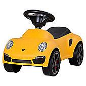 Porsche 911 Push Ride On Car Yellow