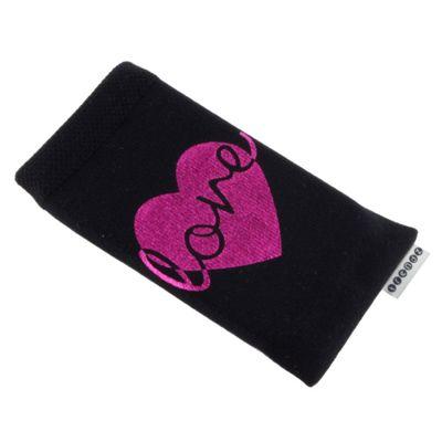 Trendz Universal Smartphone Sock - Metallic Love Heart