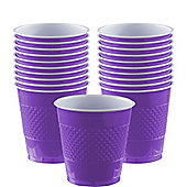 New Purple Cups - 355ml Plastic Party Cups, Pack of 20