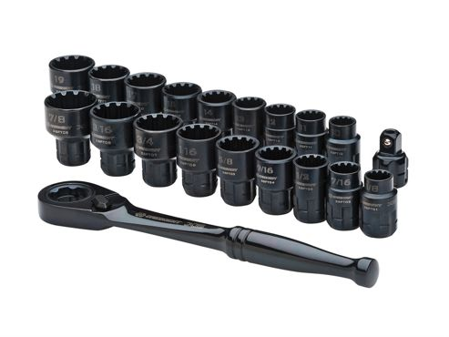 Crescent X6 Pass-Thru Ratchet & Socket Set 20 Piece