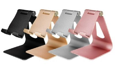 Aquarius Stable and Durable Adjustable Aluminium Smartphone and Tablet Angled Stand - Gold - R162088
