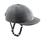 YAKKAY Cambridge Check Helmet: Medium (55-57cm).