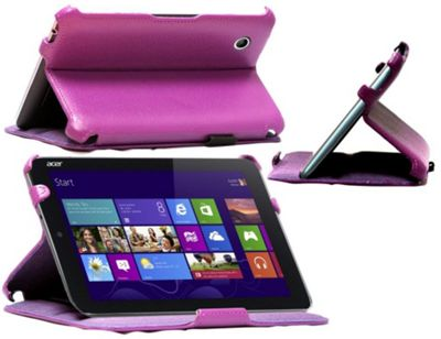 Purple Faux Leather Case Cover For The Acer Iconia W3 Windows 8.1