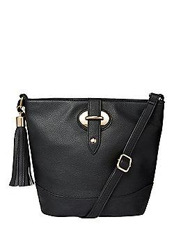 F&F Tassel Trim Bucket Bag