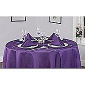 Hamilton McBride Signature Linen Look Round Tablecloth 175x175cm - Purple