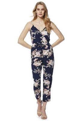 Mela London Floral Print Jumpsuit Navy Multi 14