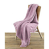 Country Club Chenille Throw Blush 127x152cm