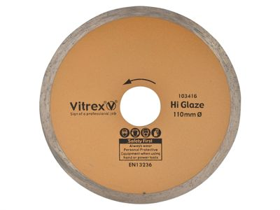 Vitrex Diamond Blade Hi Glaze 110mm