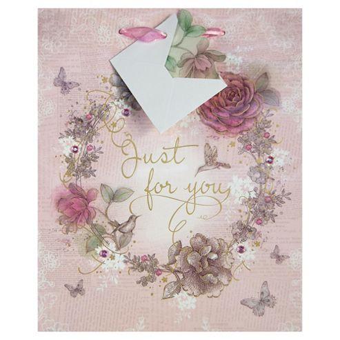 Vintage Rose For You bag - med