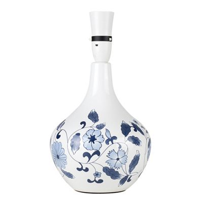 MiniSun Traditional Chinese Dianthus Ceramic Table Lamp Base - White & Blue