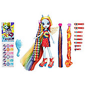 My Little Pony Rainbow Dash with hair accessories
