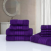Dreamscene Luxury Egyptian Cotton Towel Bale 9 Piece Set - Purple