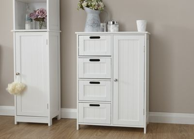 Colonial 4 Drawer / 1 Door Bathroom Unit