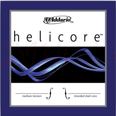 Helicore Violin Single D String, 4/4 Scale, Medium Tension