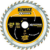 Dewalt XR Extreme Runtime Circular SAEGE Blade 210 x 30 mm 36 Teeth/DT99566 VGN-FZ QZ Static Price for 1 Each