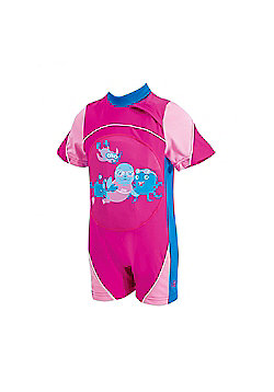 Zoggs Miss Zoggy Swimfree Infant Girls Swimming Swimsuit Floatsuit Pink - Pink