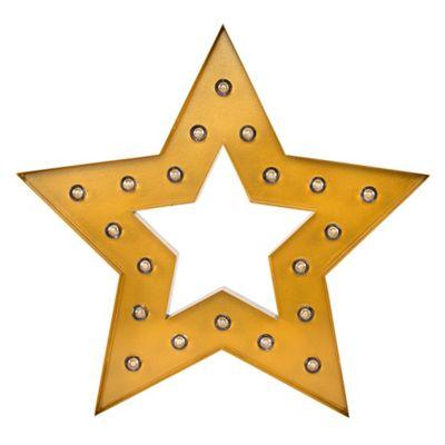 Antique Gold Star Shape Silhouette Novelty Light