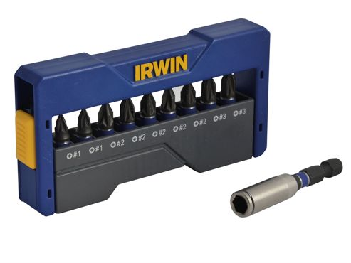 Irwin Impact Screwdriver Bit Set of 10 Pozi