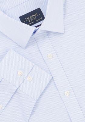 F&F Fine Stripe Regular Fit Long Sleeve Shirt Blue 17