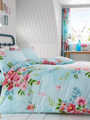Alice Floral Double Duvet Cover and Pillowcase Set