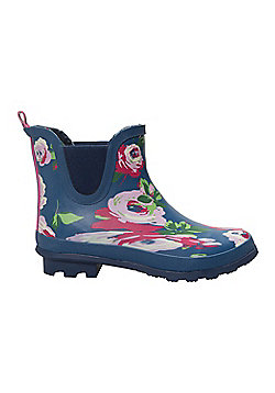 Mountain Warehouse Floral Winter Ankle Wellies - Blue