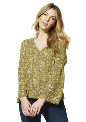 JDY Floral Flared Sleeve Blouse Multi L