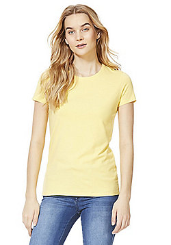F&F Crew Neck T-Shirt with As New Technology - Yellow