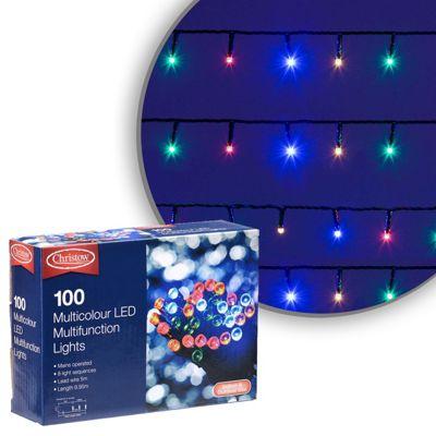100 LED Multi-Coloured Chaser Christmas Lights