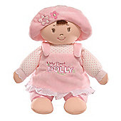 Gund My First Dolly 33cm Soft Baby Doll With Brown Hair