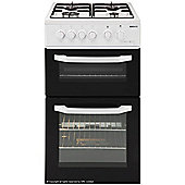 Beko Twin Cavity Single Gas Oven and Grill, 50cm Wide, BDG581W - White