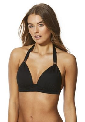 F&F Shaping Swimwear Halter Neck Bikini Top Black 10