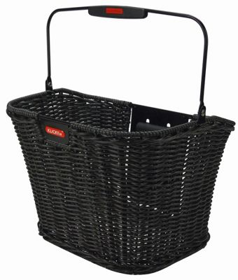 Rixen & Kaul Structura Retro Front Basket: Black.