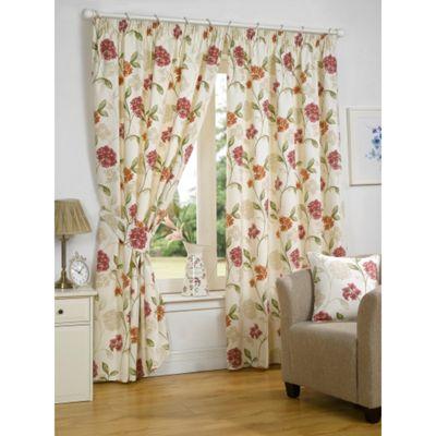 Hamilton McBride Bouquet Pink Lined Pencil Pleat Curtains - 46x54 Inches (117x137cm)