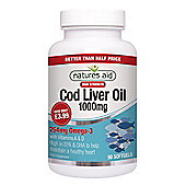 Natures Aid 1000mg High Strength Cod Liver Oil - 90 Capsules